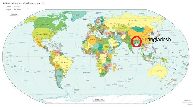 Bangladesh map in world map multicultural mothering gumiabroncs Choice Image